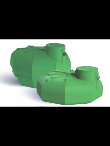 Cuve plate récupération eau de pluie Ecobase 3000L ecoslim Plasteau