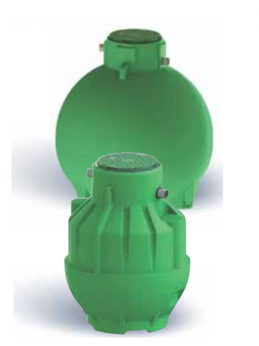Cuve récupération eau de pluie Ecobase 8000L Plasteau
