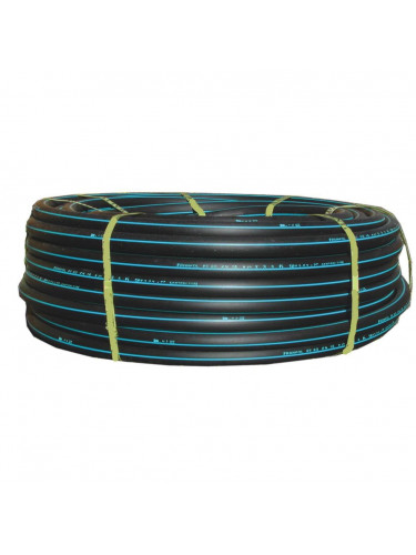 Tuyau polyéthylène bande bleu PE100